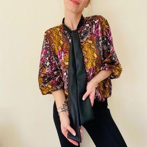 Marc New York snakeskin print blouse